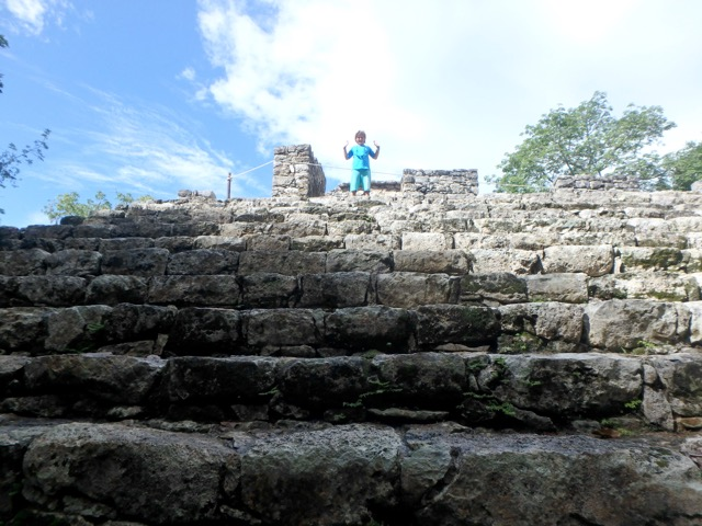 Coba - Climbing a Mayan Temple in the Jungle