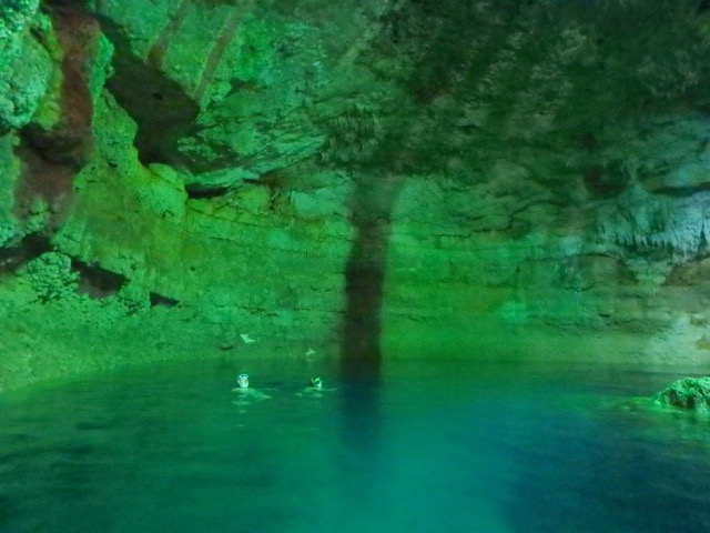 Cenotes - Swimming in Underground Lakes. Tamcach-Ha Cenote
