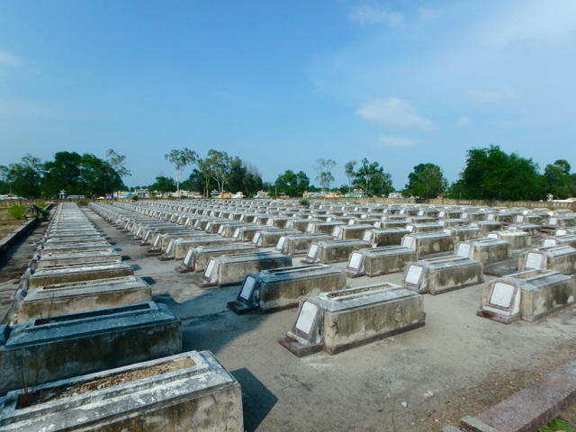 Military cemetery for Northern Vietnamese soldiers